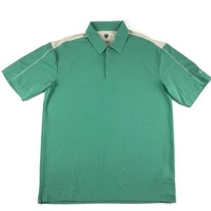 Nike Golf Green & White Polo Shirt Men's Large